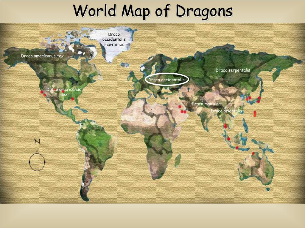 World Map of Dragons