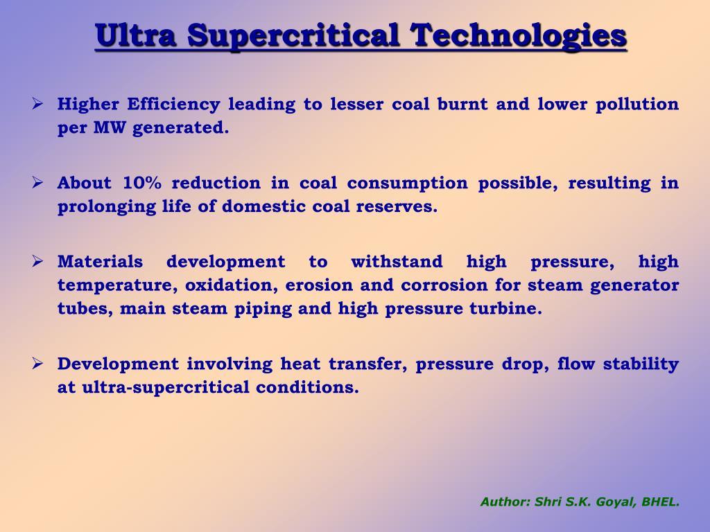 Ultra Supercritical Technologies