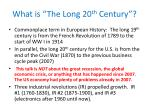 what is the long 20 th century