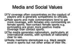 media and social values