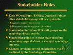 stakeholder roles