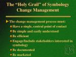 the holy grail of symbology change management