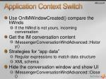 application context switch19