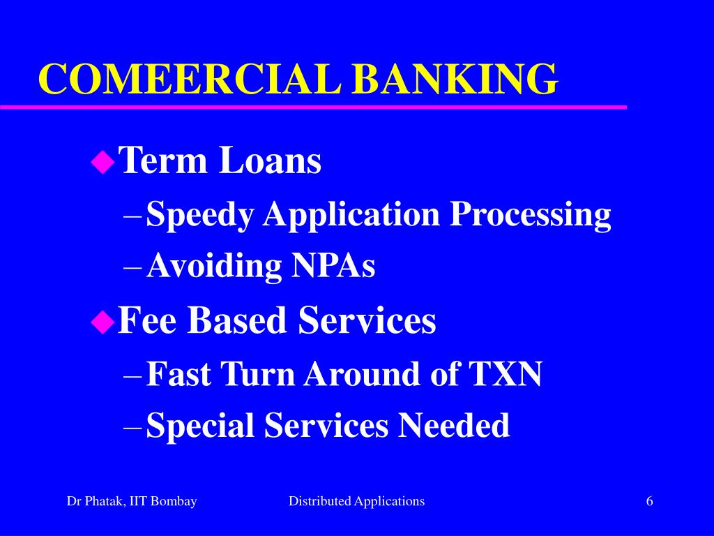 COMEERCIAL BANKING