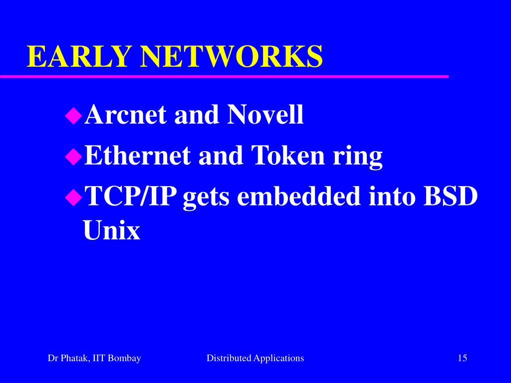EARLY NETWORKS
