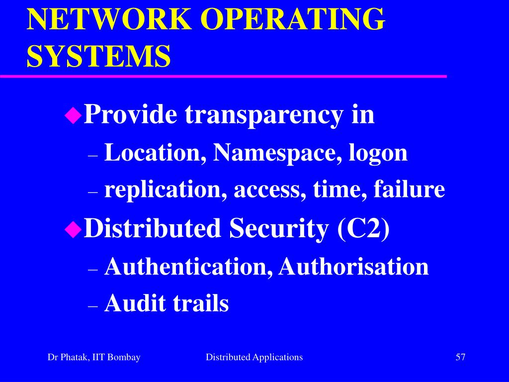 NETWORK OPERATING SYSTEMS