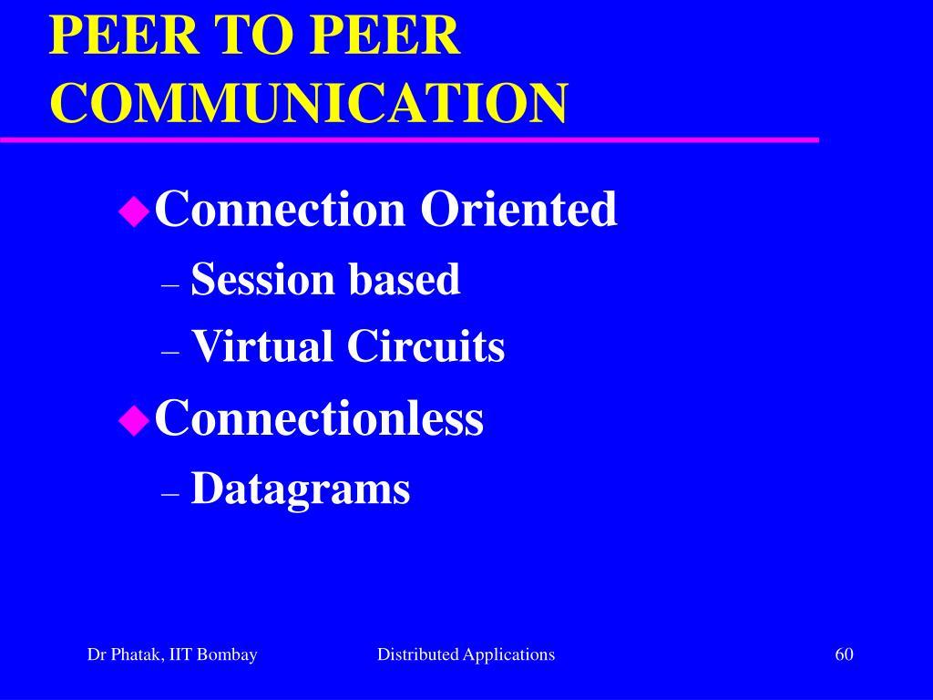 PEER TO PEER COMMUNICATION