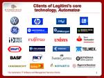 clients of legitimi s core technology automatos