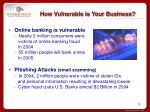 how vulnerable is your business