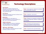 technology descriptions