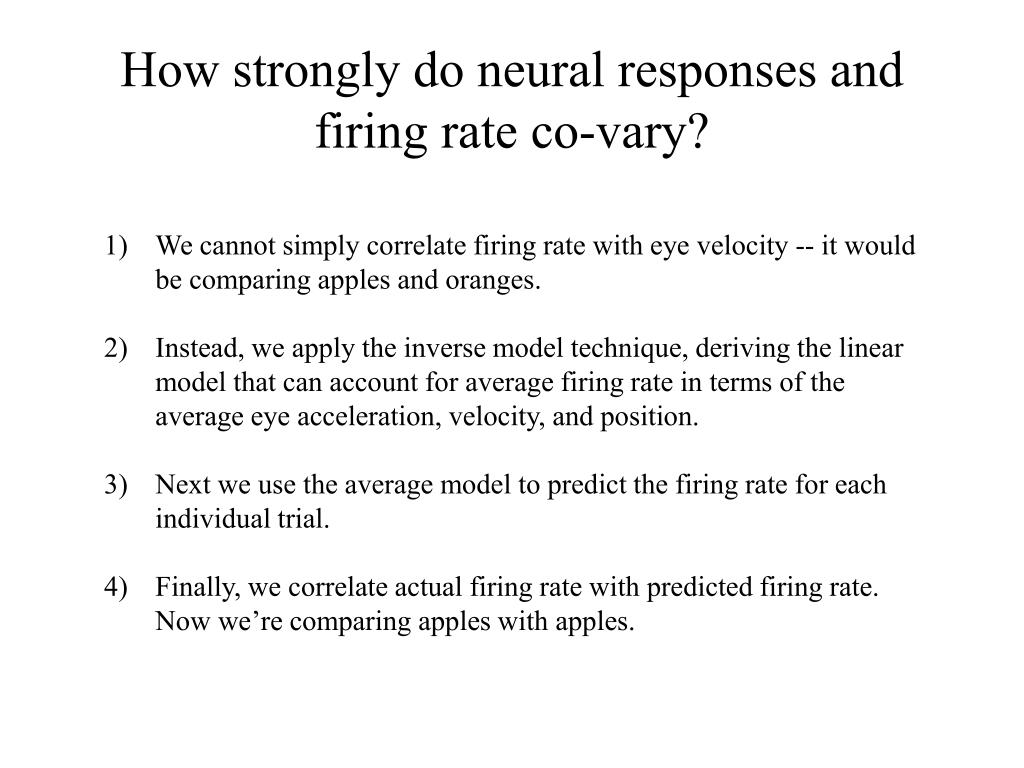 How strongly do neural responses and firing rate co-vary?