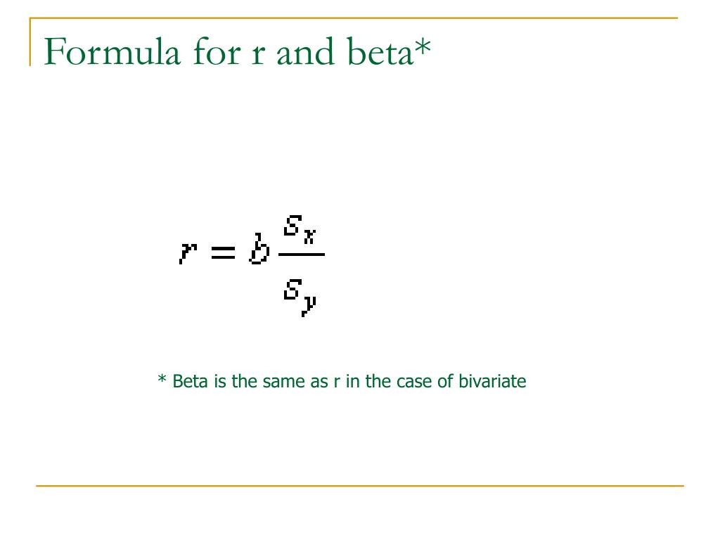 squared and beta relationship