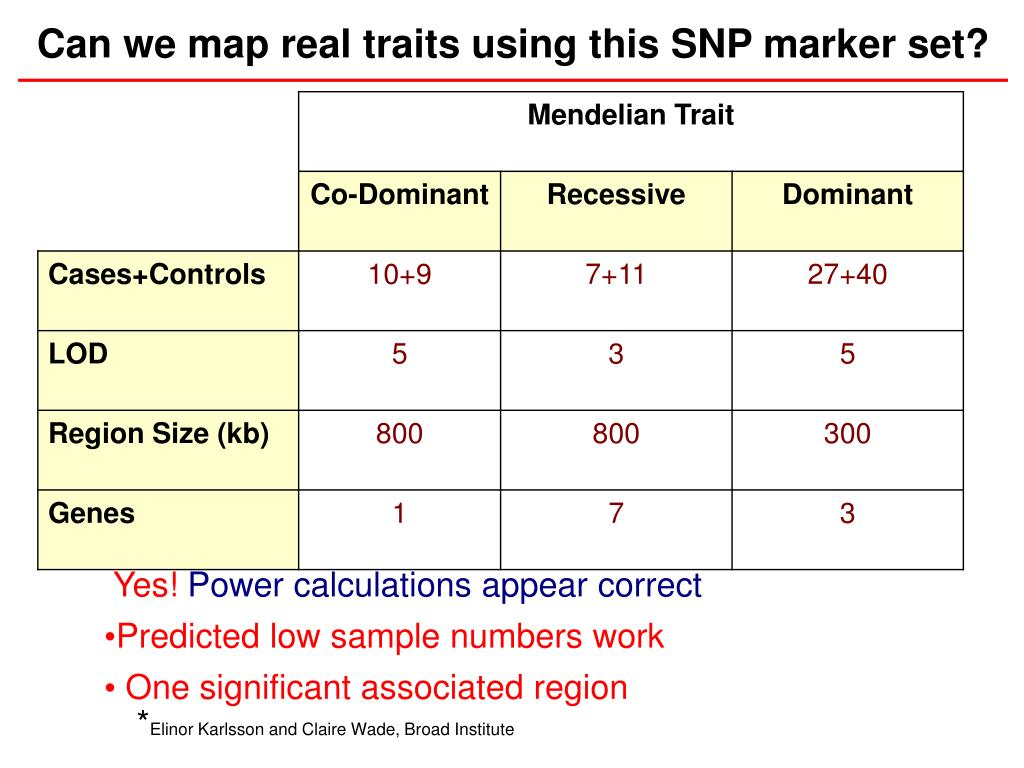 Can we map real traits using this SNP marker set?
