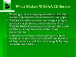 what makes wasaa different8