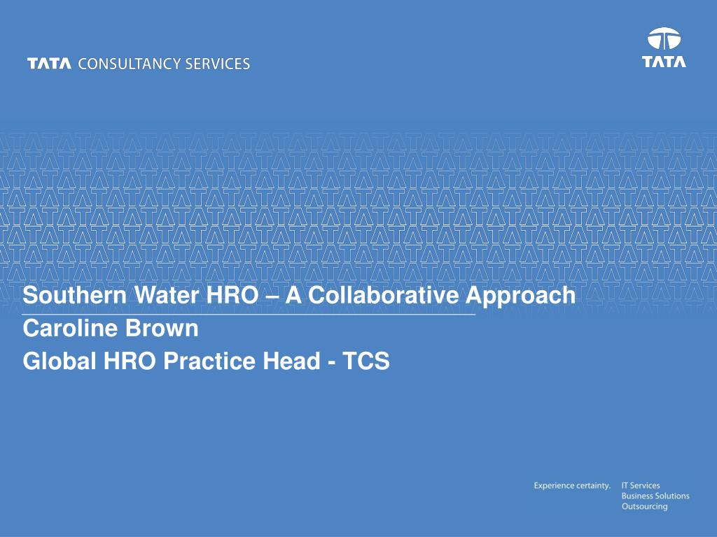 Southern Water HRO – A Collaborative Approach
