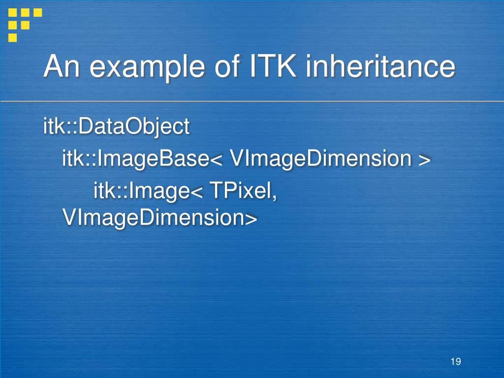An example of ITK inheritance