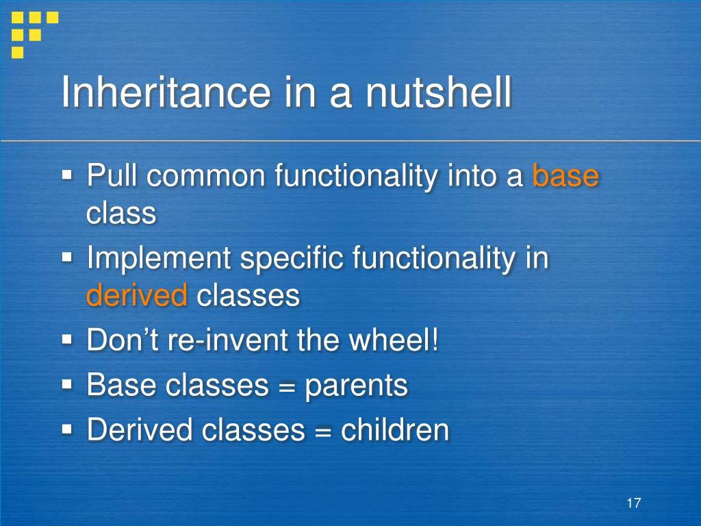 Inheritance in a nutshell