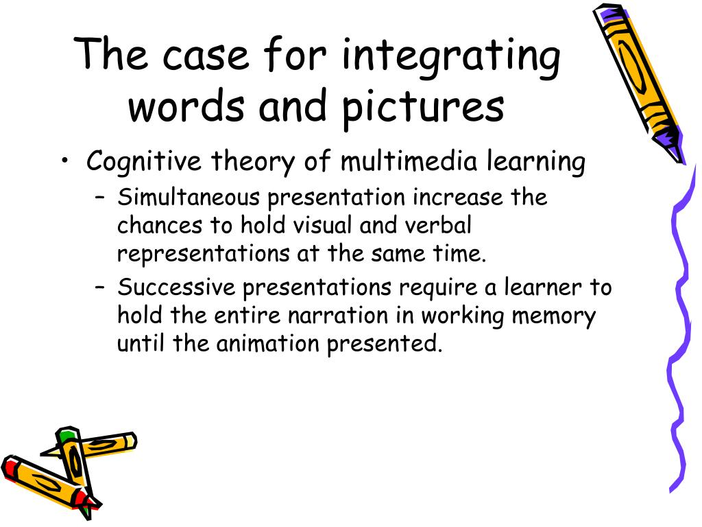 The case for integrating words and pictures