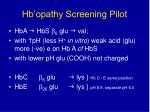 hb opathy screening pilot15