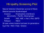 hb opathy screening pilot28