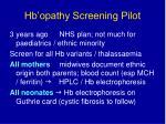 hb opathy screening pilot32