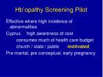 hb opathy screening pilot43