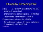 hb opathy screening pilot45