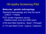 hb opathy screening pilot46