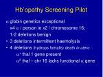 hb opathy screening pilot8