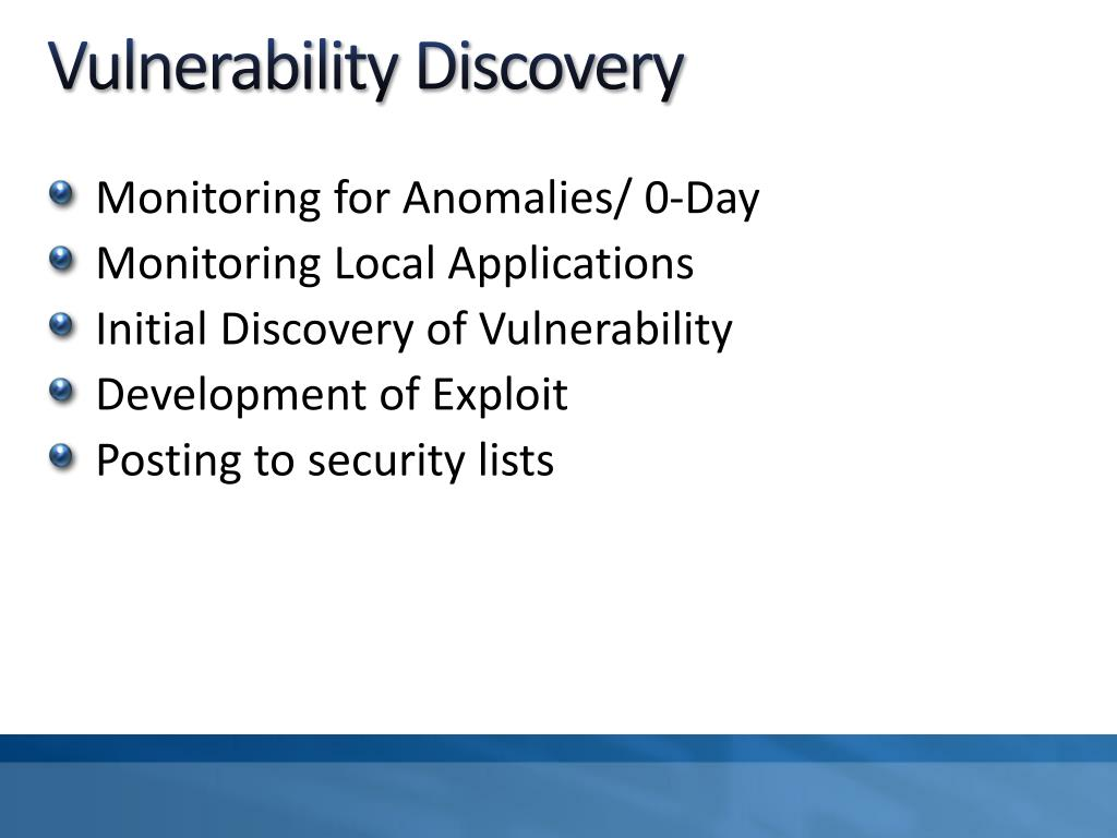 Vulnerability Discovery