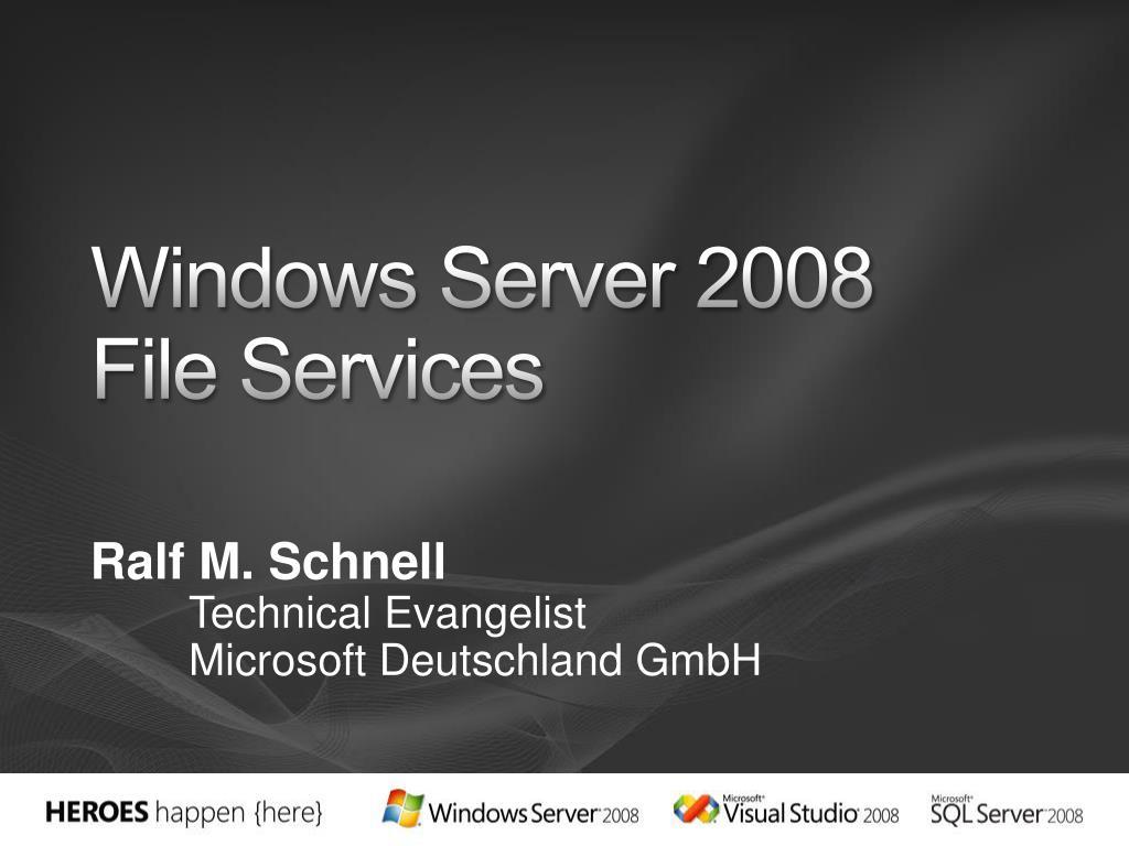 windows server 2008 file services