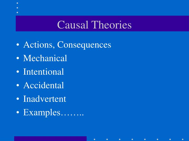 Causal Theories