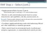 rmf step 2 select cont