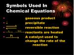 symbols used in chemical equations7