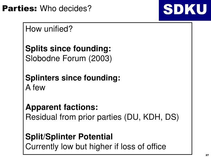 Parties: