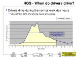 hos when do drivers drive