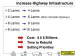 increase highway infrastructure