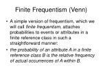 finite frequentism venn