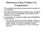 reference class problem for frequentism73