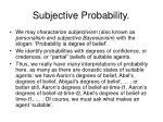 subjective probability85