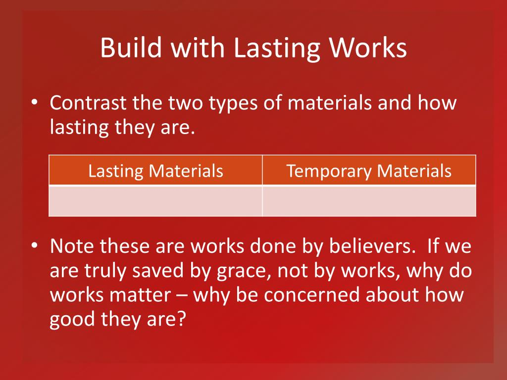 Build with Lasting Works