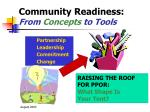 community readiness from concepts to tools