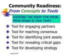 community readiness from concepts to tools11