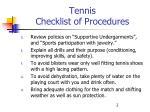 tennis checklist of procedures2