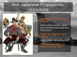 anti japanese propaganda uncivilized
