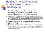 elements of an economic policy model of r d 1 generic technology a
