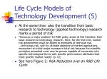 life cycle models of technology development 5
