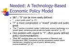 needed a technology based economic policy model