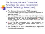 the tenuous nature of competitive advantage 5 under investment in generic technology research c