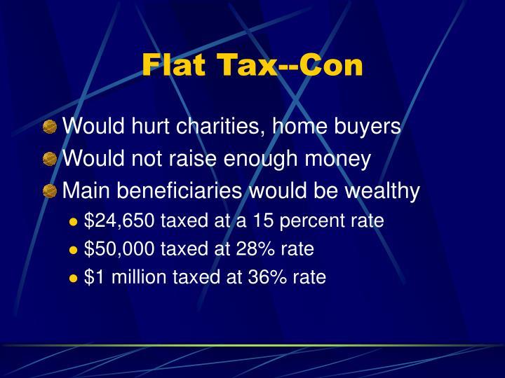 Flat Tax--Con